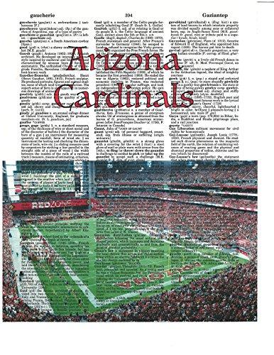 izona Cardinals photo Dictionary Art Print University of Phoenix Stadium Photo NFL Art Gift For Him Dictionary Photo (Phoenix Stadium)