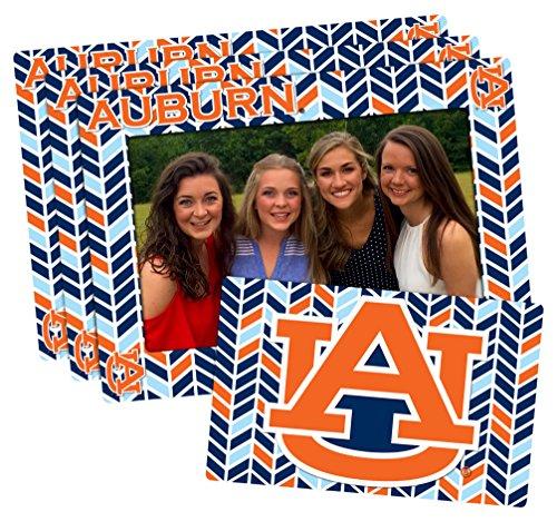 Auburn Tigers Ncaa Photo - Worthy Promotional NCAA Auburn Tigers 4-inch by 6-inch Magnetic Frame Plus Bonus Magnet, Blue, Orange, 3 Pack