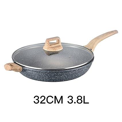 LLW-Frying Pans Sartén Sartenes Maifan Stone Antiadherente Pan Steak Fry Pancake Pan Omelette Cocina