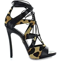 DSQUARED2 Kadın Sandalet Siyah Deri Hsw003854200001m834