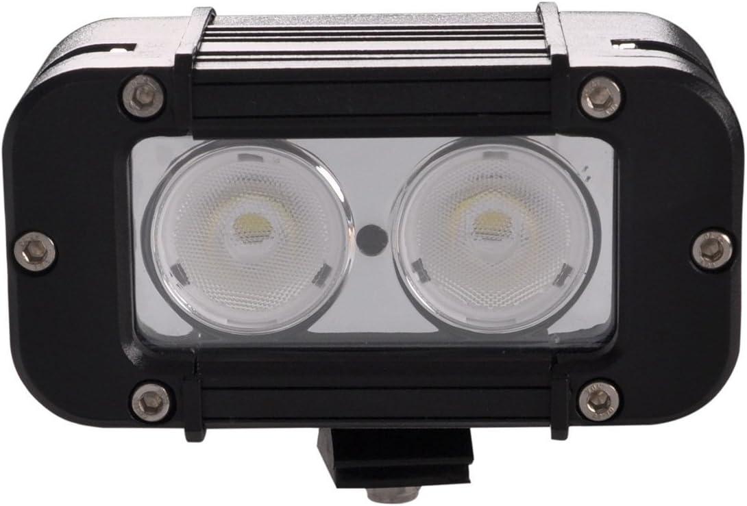 Lightronic 5 20W 2000 Lumens 6000K Super Bright Flood Beam Off-Road LED Light Bar with Sliding Mounts 1-Piece