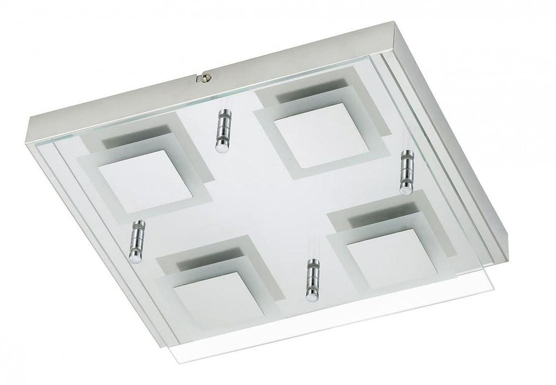 LED Deckenleuchte 4x 4, 5 Watt Badleuchte Badezimmer Glas IP44 Briloner 2213-048 [Energieklasse A+] Briloner Leuchten