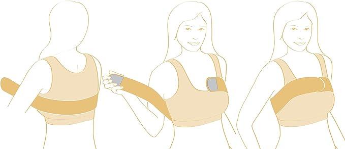 Implante de mama banda de compresión de estabilización - Post cirugía de mama apoyo banda: Amazon.es: Ropa y accesorios