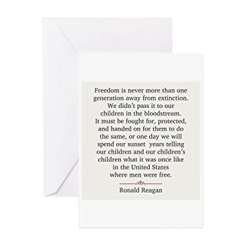 Amazon Cafepress Ronald Reagan Greeting Card Note Card