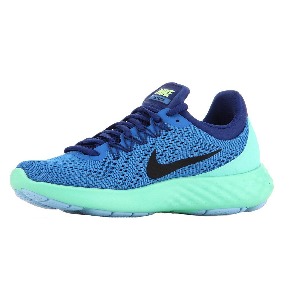 NIKE Womens Lunar Skyelux Round Toe Lace-up Running Shoes B01CJ3ORAO 8.5 B(M) US|Fountain Blue/Deep Royal Blue/Green Glow/Black