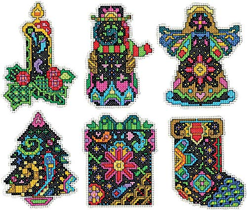 Fantasy Ornament - Design Works Plastic Canvas Kit ~ Christmas Fantasy Ornaments Set of 6
