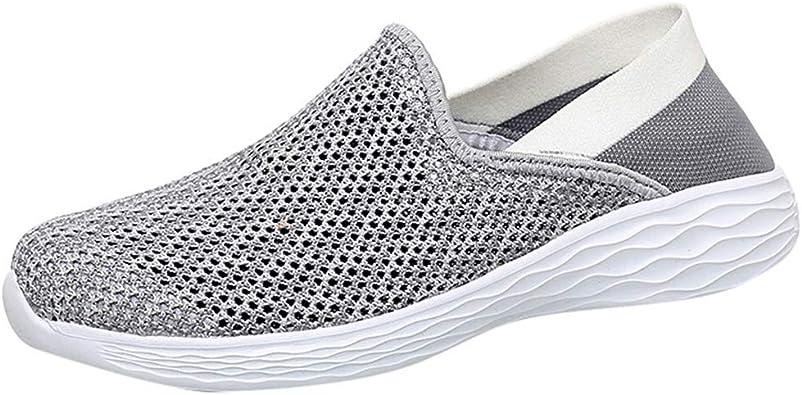Sayla Zapatos Zapatillas para Hombres Casual Moda Verano Running Zapatillas sin Cordones De Monta/ñismo Deporte Zapatos para Correr Gimnasio Sneakers Deportivas Padel Transpirables Al Aire Libre