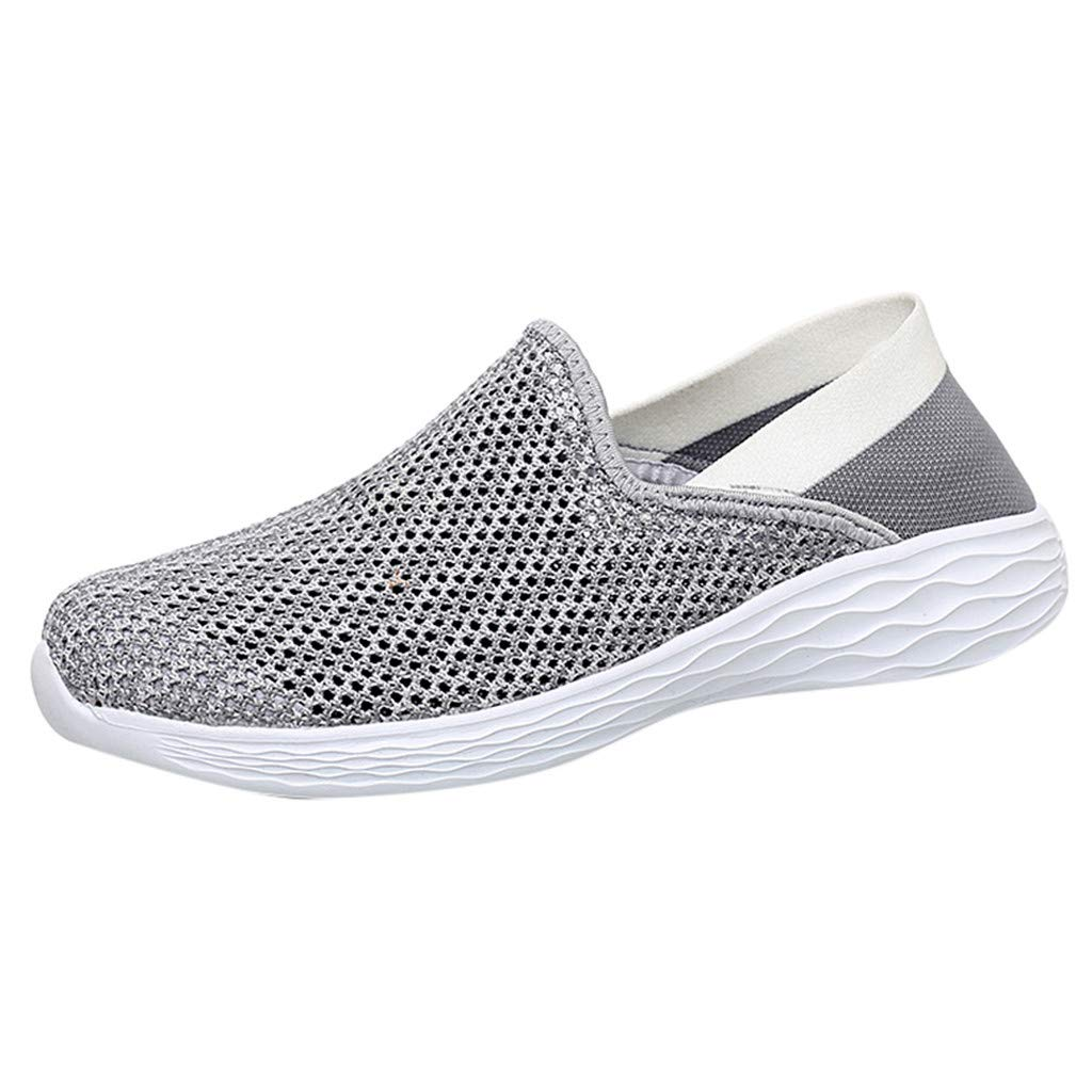 Men Shoes Sneakers Slip On,Couple Men Outdoor Mesh Hollow Casual Sports Shoes Run Breathable Shoes Sneakers