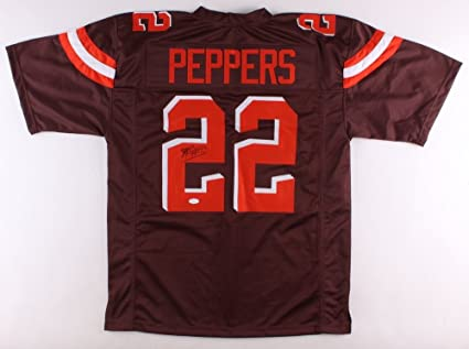 208139640 Jabrill Peppers Signed Cleveland Browns Jersey (JSA) at Amazon's ...