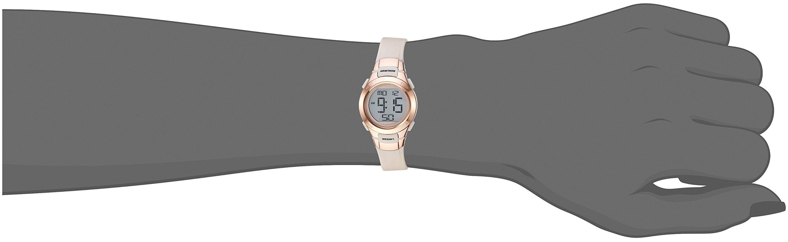 Armitron Sport Women's 45/7012PBH Rose Gold-Tone Accented Digital Chronograph Blush Pink Resin Strap Watch by Armitron Sport (Image #2)