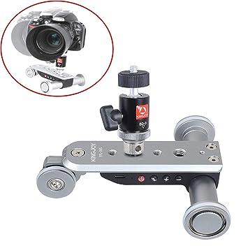 DXY 3Ruedas Electric Track Slider Polea,Mini Coche eléctrico motorizado del Carro resbalador de la Pista para videocámara DV Compatible cámaras DSLR/Home ...