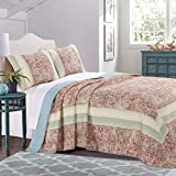 Barefoot Bungalow Palisades Pastel Bedspread Set, 3-Piece, King