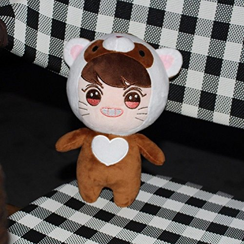 Kpop EXO XOXO Planet#2 Plush Toy Chanyeol Chen Kai Suho Sehun DO BaekHyun Dolls(G)