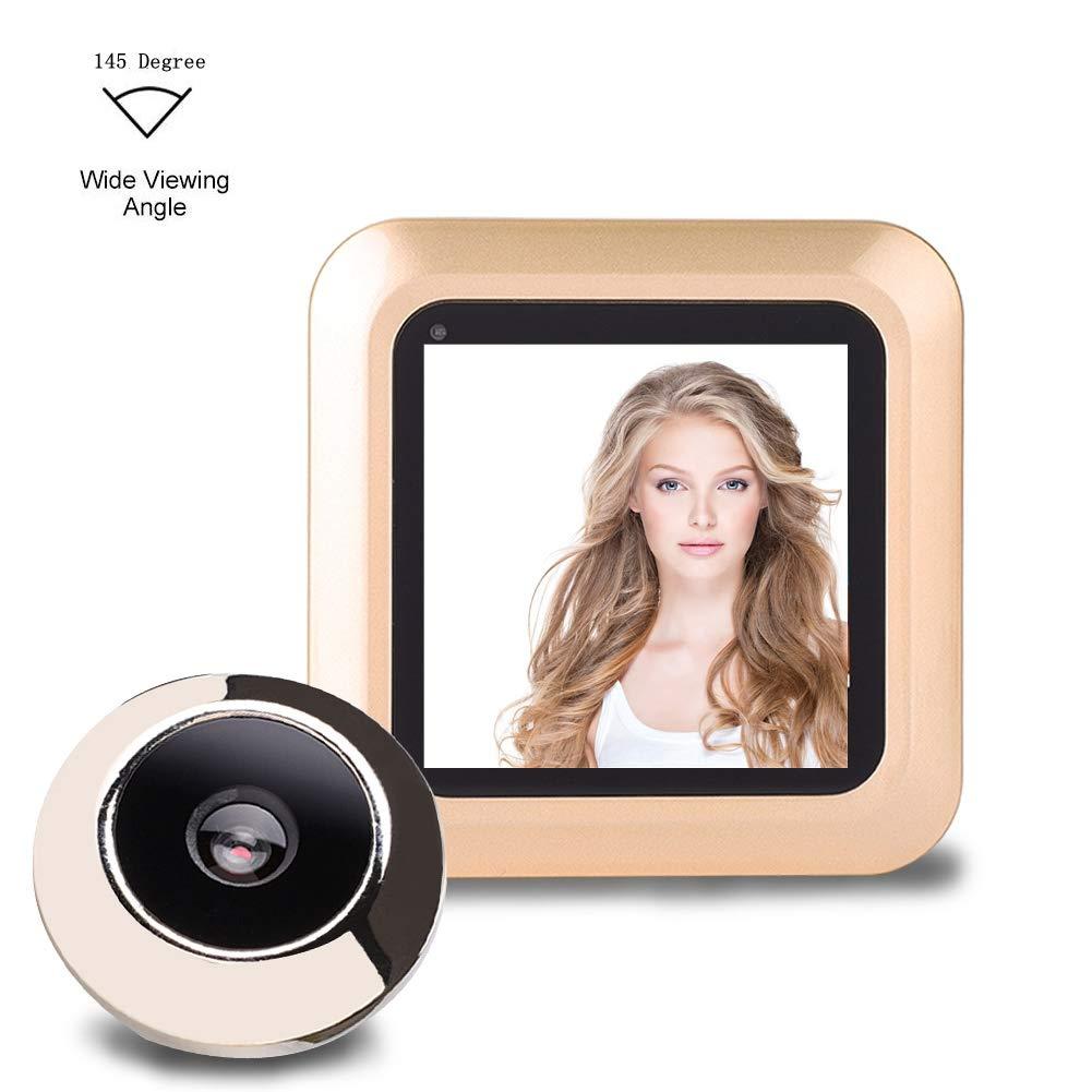 Almacenamiento de Fotos de Soporte Kafuty Timbre de Puerta con Visor Digital Inteligente con Pantalla HD de 2,4 Pulgadas y c/ámara de Seguridad de /ángulo Amplio de 145 Grados