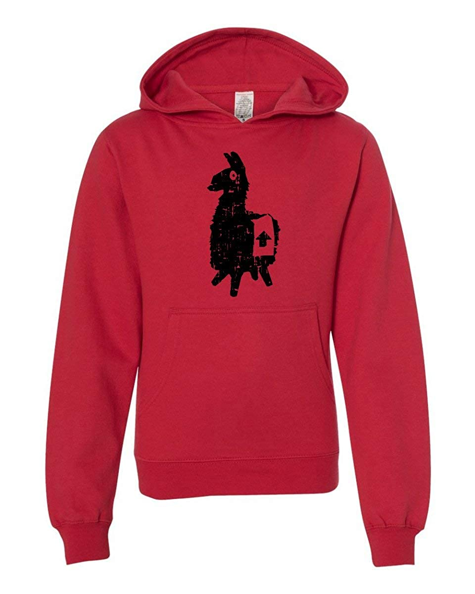 LivingTees Llama Fortnight Youth Sweatshirt Hoodie for Boys and Girls