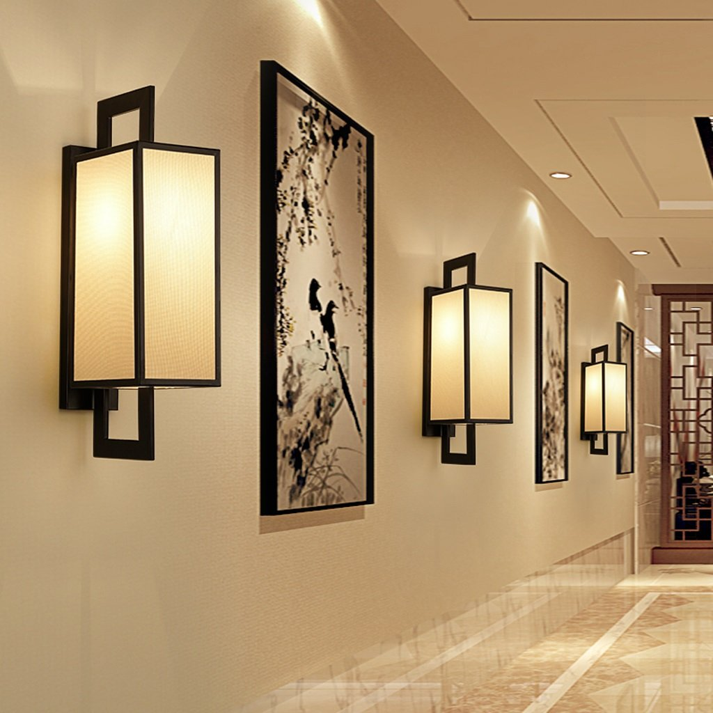 Amazon.com: New Chinese Retro Wall Lamp Corridor Aisle Iron Art Wall ...