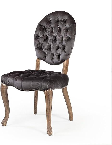 Amazon Com Stella Grey Velvet Dining Chair 20 Seat Height Chairs
