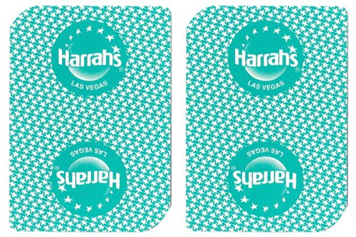 - 1 Deck Harrah's Casino Playing Cards Used In Real Casino - Free Bounty Button Kit