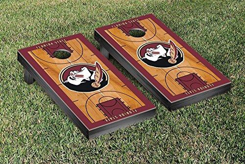 Florida State Seminoles FSU Cornhole Game Set Basketball Court Version by Victory Tailgate