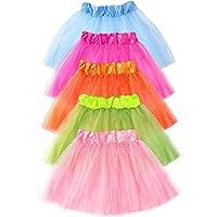 Vcertcpl Tutu for Toddler Girls, 5 Pack Tutu Dress for Girls 2-5, 5 Varied Colored Dress Up Tutu Skirt for Girls Ballet…