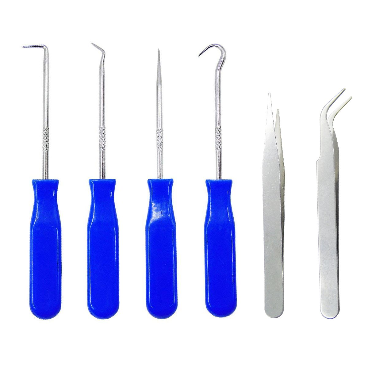 4 Packs Stainless Steel Precision Craft Vinyl Weeding Tools, Deep Blue