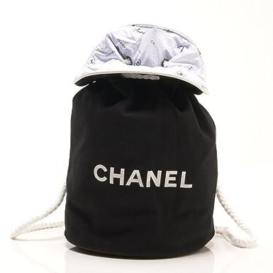 138060f190fe CHANEL(シャネル) リュックサック バック 巾着 キャンバス素材 [CHANELロゴ] ブラック 【