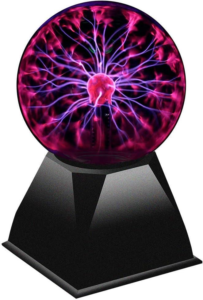 Juguetrónica - Bola de plasma XL, 20 cm, activación con palmadas y música, tamaño grande