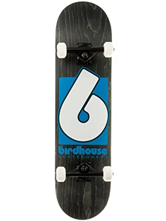 Birdhouse High Grade Logo Skateboard Complete Black Blue 8