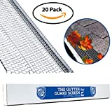 """Ultimate Rain Gutter Guard By Gutter&Drain  Ridged Mesh For Extra Protection   Premium Anti-Leaf Gutter Cover Prevents Clogged Downspouts   Easy DIY Installation & Weatherproof Design   5""""(100ft)"""