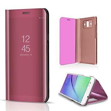 Huawei Mate10 Shell, Translucent Window View Flip Wallet Stand Cover, Shiny  Plating Make Up Mirror, TAITOU Smart Sleep/Awake Hard Case For Huawei Mate