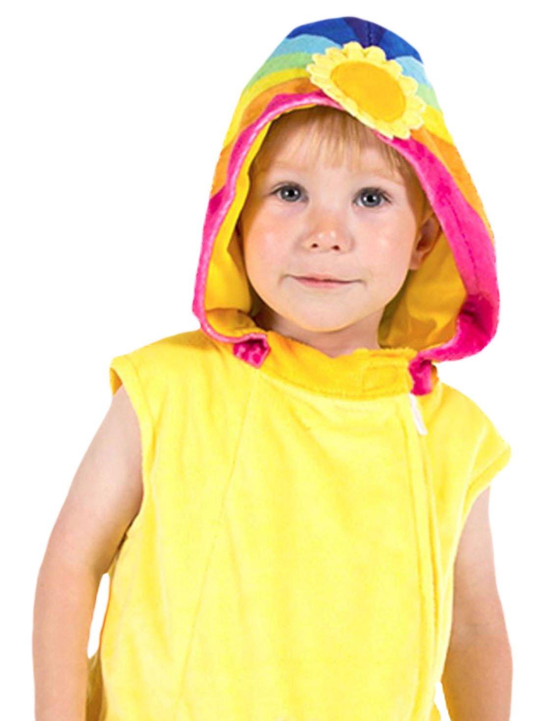 Karnevalsbud - Kinder Wolkenkind Kleid Kostüm Karneval, Gelb, Größe 92-98, 2-3 Jahre