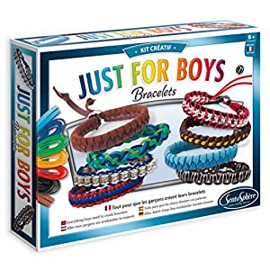 SentoSphere Creative - Just for Boys - DIY Bracelets Arts and Crafts Kit