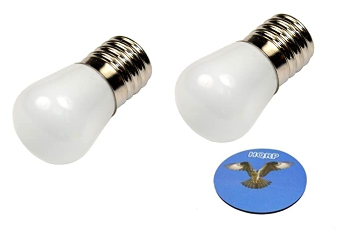 HQRP 2-Pack 110 V E17 Base bombillas LED para nevera/congelador ...
