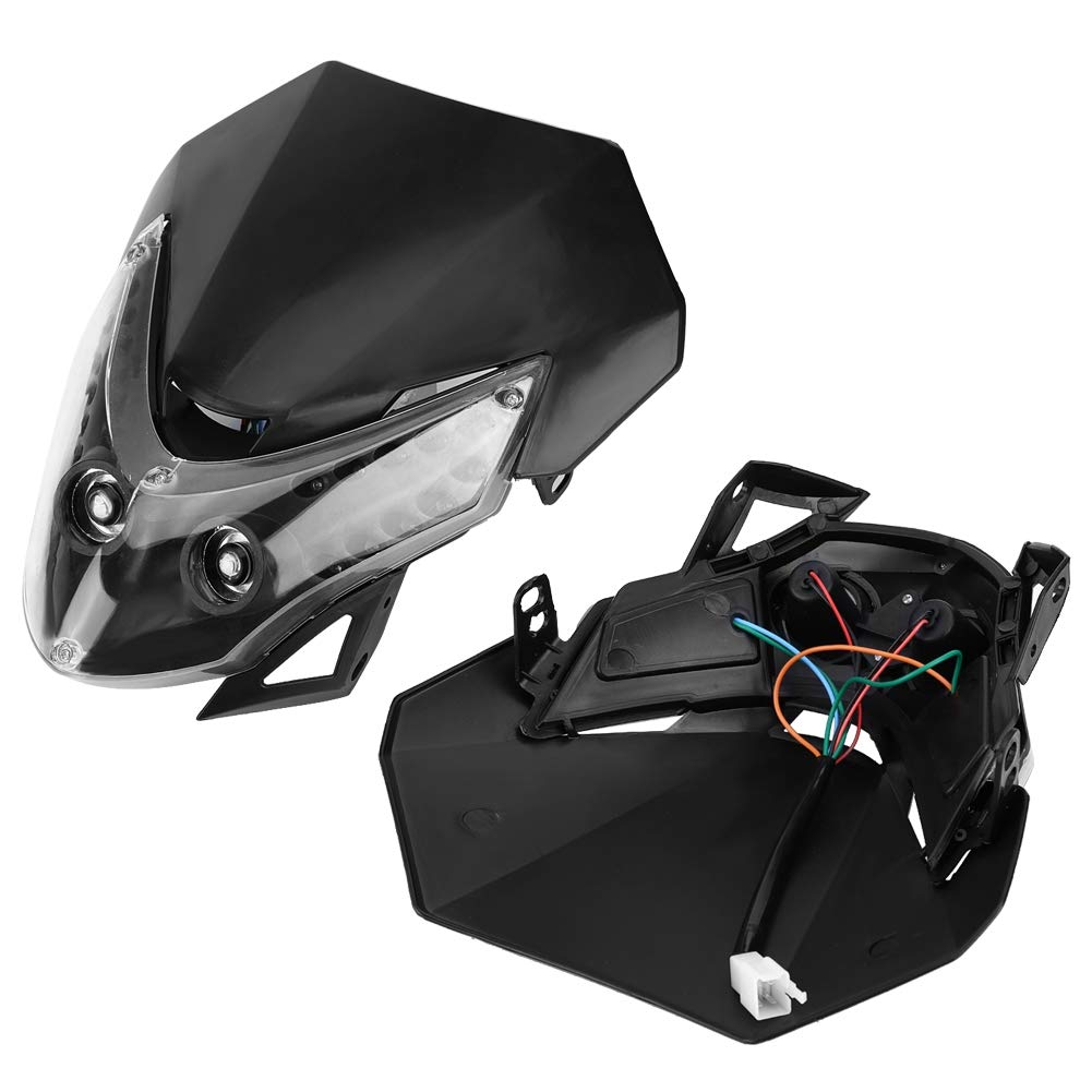 KIMISS DC12V Universal Motorcycle Super moto Halogen Headlight Indicator Dirtbike 10W Motorcycle LED Headlight Street Fighter Sport Custom Fairing Light