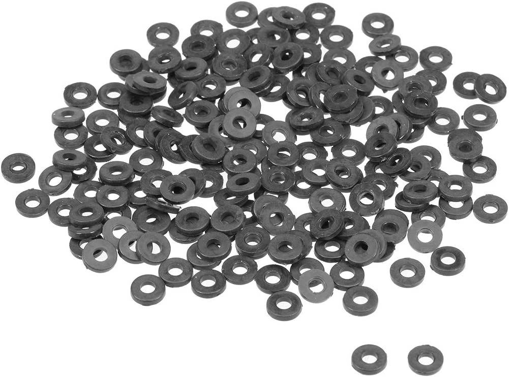 uxcell Nylon Flat Washers for M4 Screw Bolt 10mm OD 1mm Thick 200PCS