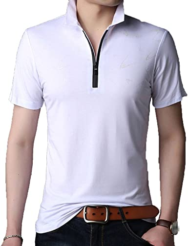 JIAMIJ Polo Para Hombre Golf Tennis Camiseta Manga Corta Recta ...