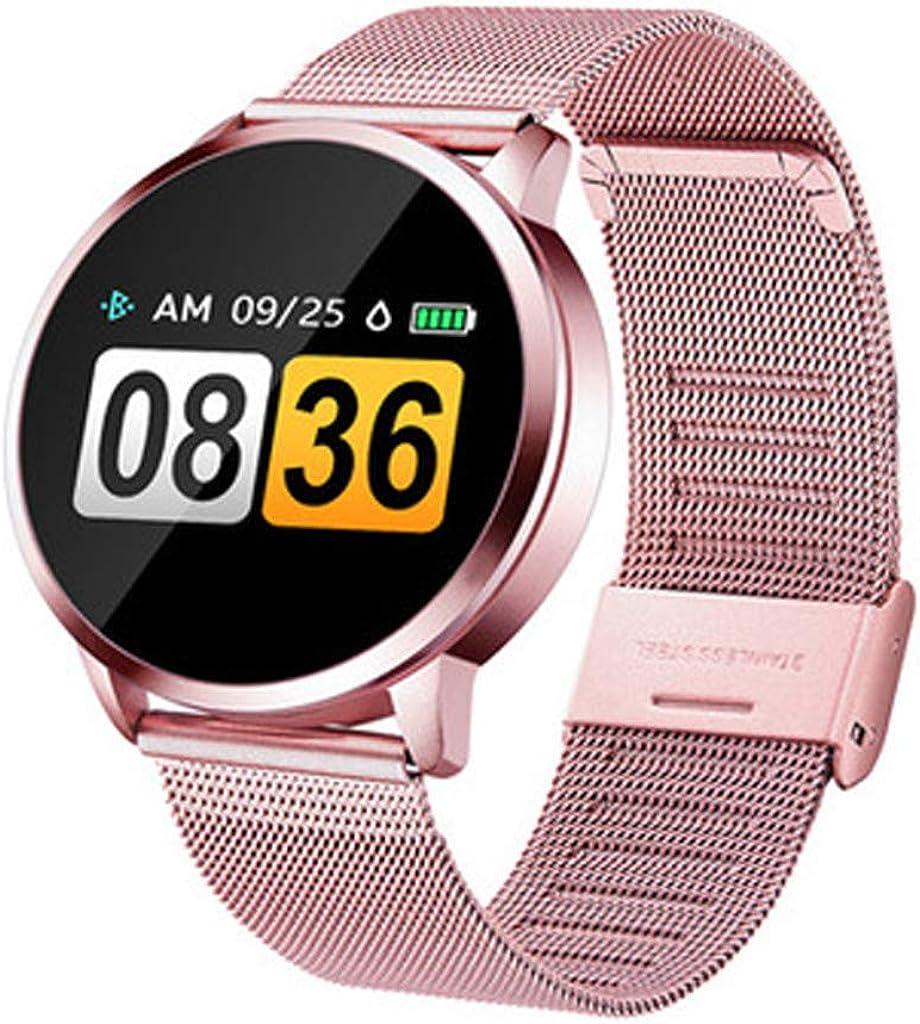 Smartwatch Compatible con Q8 V09 Reloj Inteligente Monitor de Sueño, Anti-pérdida, Podómetro, Pulsómetros Podómetro, Pulsera Actividad Inteligente para Deporte para Unisex Adulto,Mujer, Hombre (Rosa)