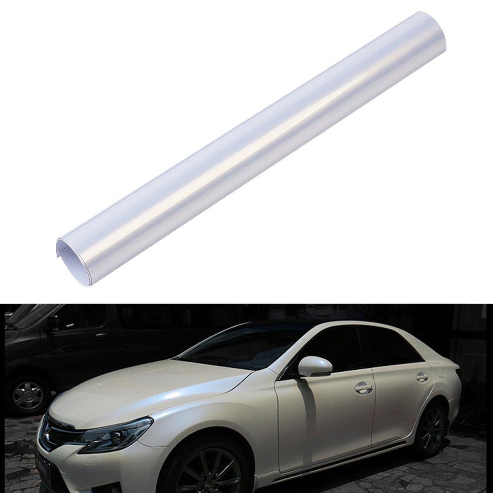 ATMOMO Bright White to Blue Chameleon Car Vinyl Film Wrap Car Body Sticker Decal Film Roll 1.52Mx50CM