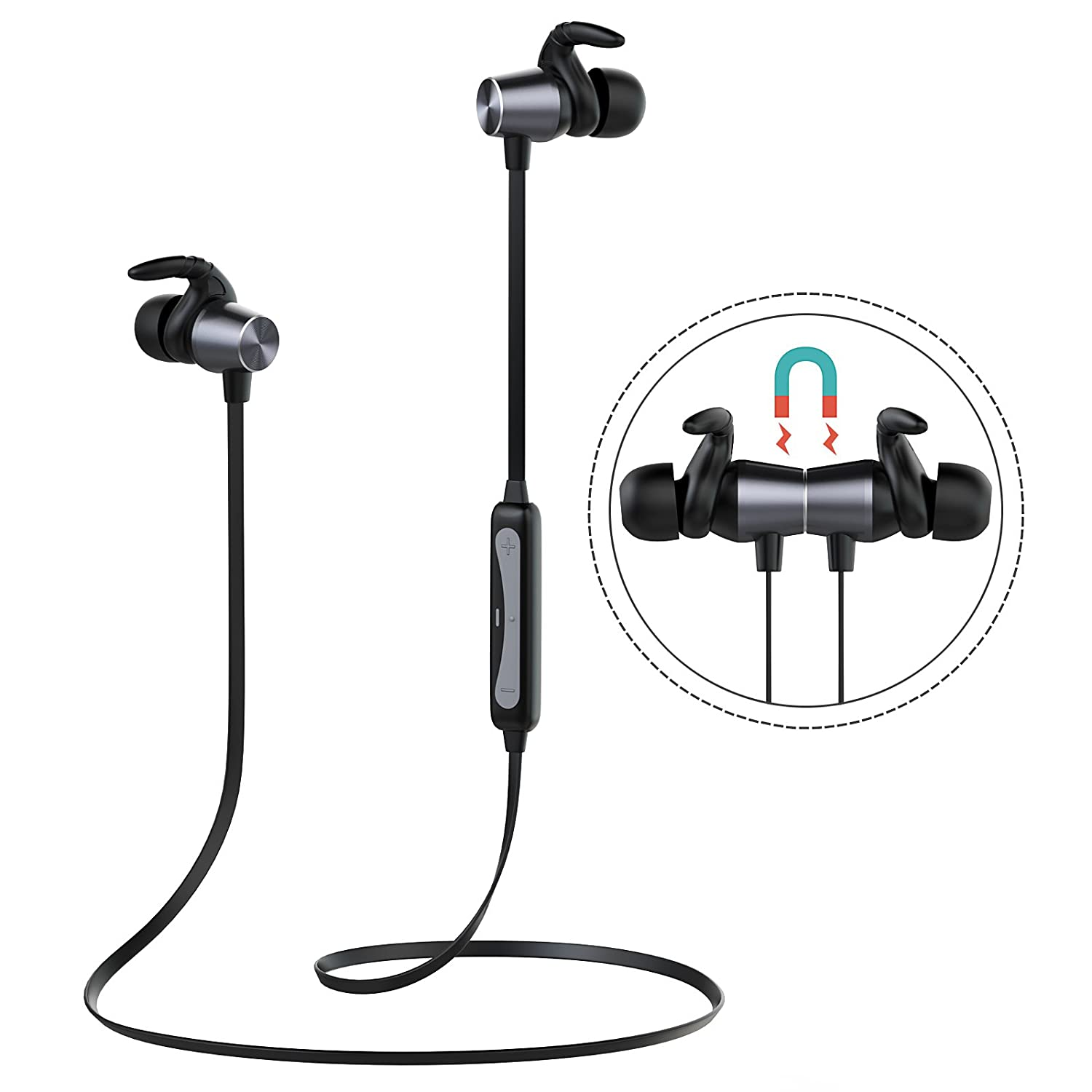 Bluetooth 4.2 Wireless Sports Earphones for Gym Running Workout, Magnetic in-Ear Earphones with Built in Mic, Bluetooth Headphones Sport Earphones FEPEZONG