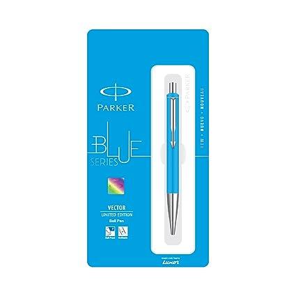 Black Body + 1 Blue Ink New Cartridge Parker Vector Standard CT Fountain Pen