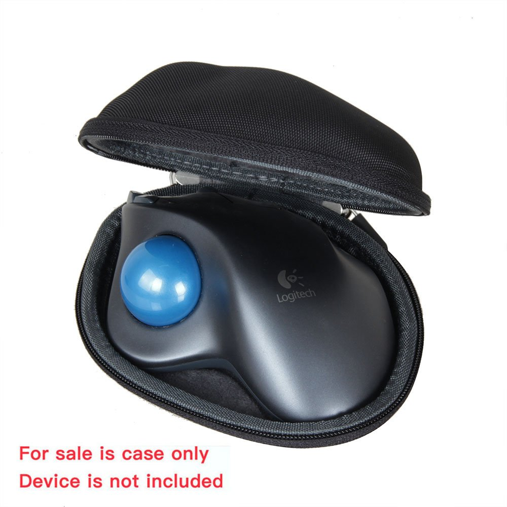 ed29a192dbd Amazon.com: Hermitshell Travel EVA Nylon Protective Case Carrying Pouch  Cover Bag Compact Sizes Fits Logitech Mouse M570 Wireless Trackball:  Computers & ...