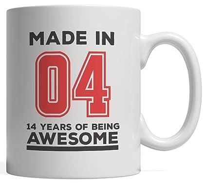 Made In 04 14 Years Of Awesomeness Mug