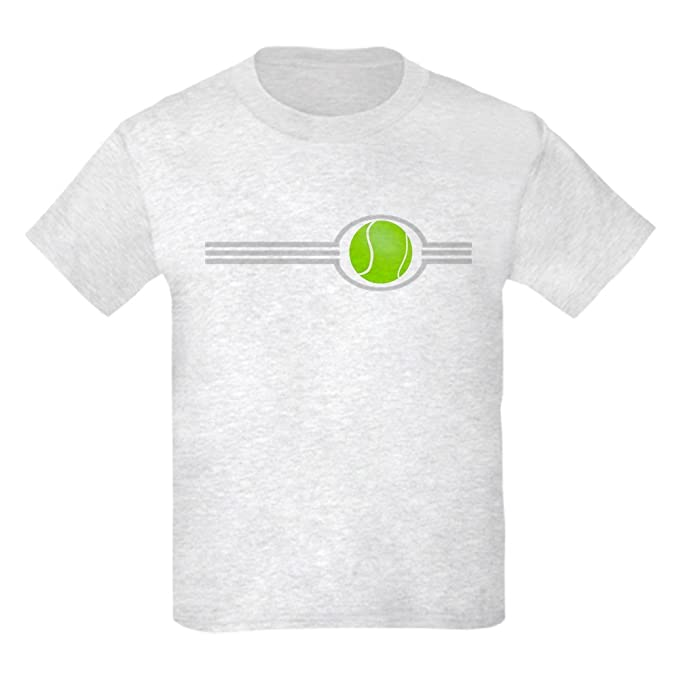 4105ff723d Amazon.com: CafePress - Three Stripes Tennis Ball - Kids Cotton T-Shirt:  Clothing