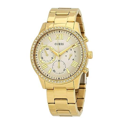 Guess Reloj Analógico para Mujer de Cuarzo con Correa en Acero Inoxidable W1069L2: Amazon.es: Relojes