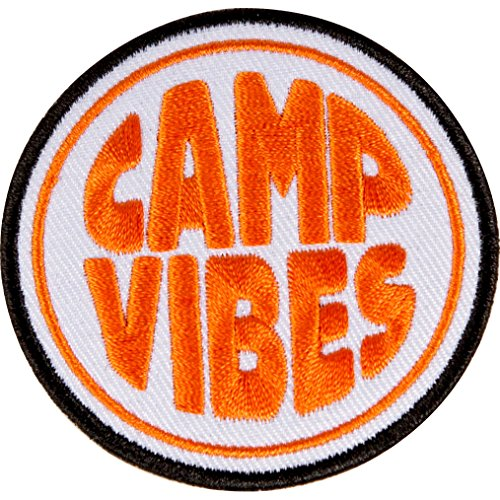 Poler Iron On Patch One Size Camp Vibes Orange