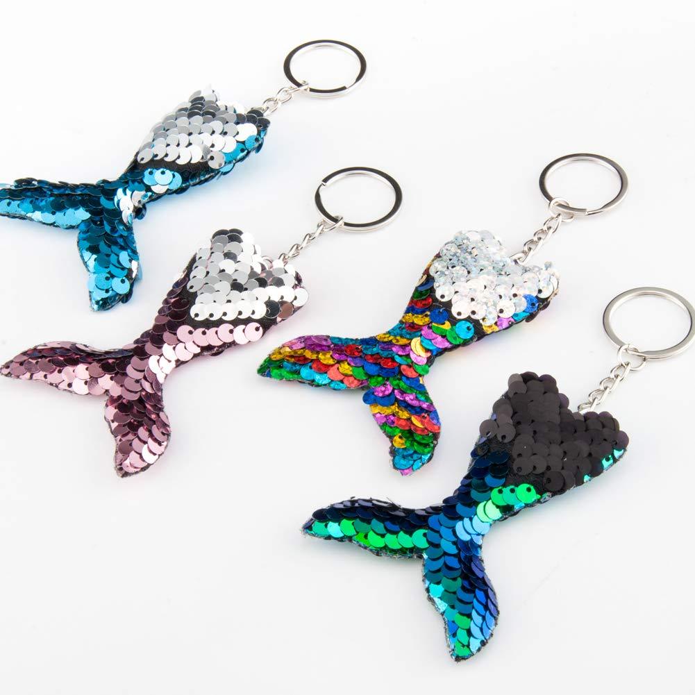 Amazon.com: Paquete de 12 pulseras de lentejuelas de sirena ...