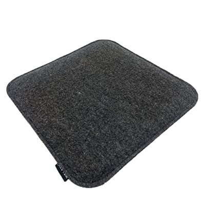 Haluoo Seat Cushion Seat Protector Pad Non-Slip Square Stool Cushions Portable Seat Cover for Indoor Outdoor Kitchen Dinning Room Dining Chair Office Garden Patio Pressure Relief Dark Gray: Sports & Outdoors