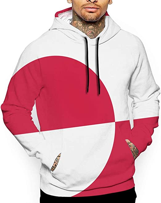 Mens Hoodies Flag of Liechtenstein Best Pullover Hooded Print Sweatshirt Jackets