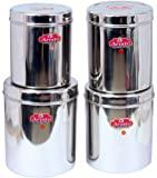 Aristo Stainless Steel Containers, Set of 4, Silver