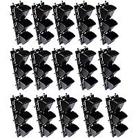 Vertical Wall Garden M2 Model Panel with Hanging 45 Pots (Black) Set of 15